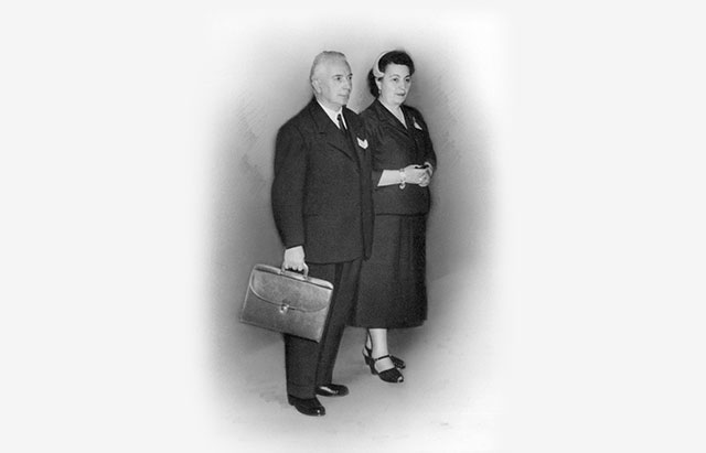 Dr Camille Bru and his wife