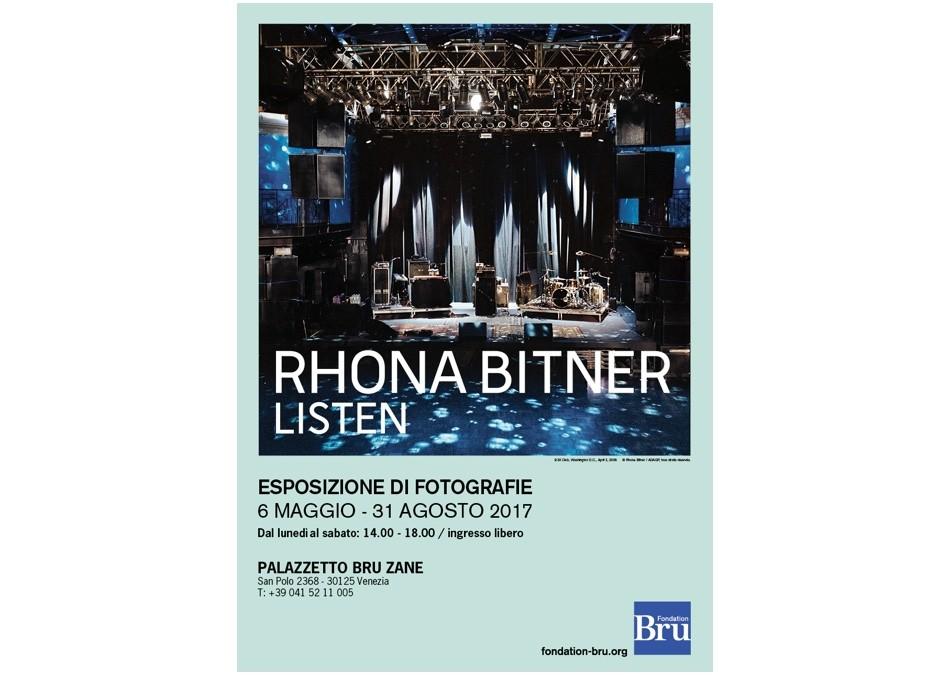 LISTEN, Rhona Bitner Accrochage de photographies